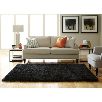 Ali Shag Black Area Rug Rug Size: Rectangle 26 x 310
