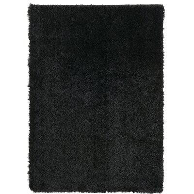 Ali Shag Black Area Rug Rug Size: 5' x 7'