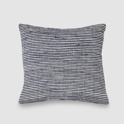 Osgood Spun Threads with a Soul� 100% Cotton Throw Pillow Color: Navy/White