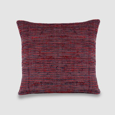 Osgood Spun Threads with a Soul� 100% Cotton Throw Pillow Color: Red/Navy