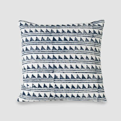 Glover Spun Threads with a Soul Triangle Waves 100% Cotton Throw Pillow