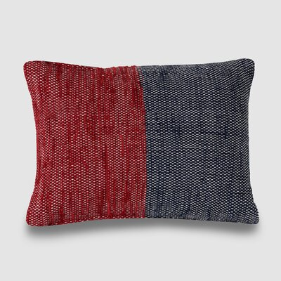Charisse Spun Threads with a Soul� 100% Cotton Lumbar Pillow Color: Red/Navy