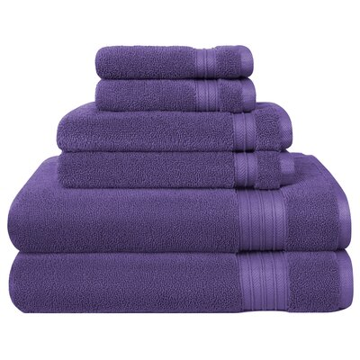 6 Piece Towel Set Color: Violet