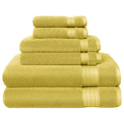 6 Piece Towel Set Color: Linden Green