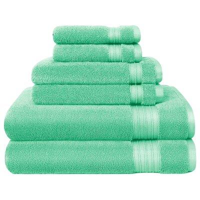 6 Piece Towel Set Color: Mint