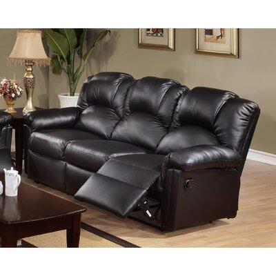 Jacob Reclining Sofa Upholstery: Black