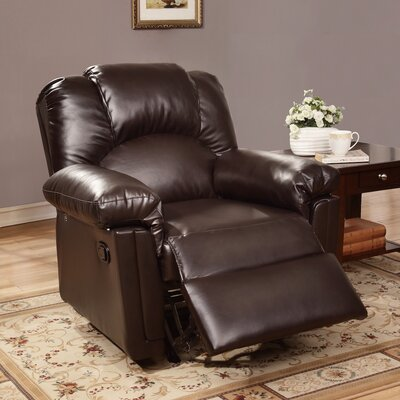Jacob Manual Glider Recliner Upholstery: Espresso