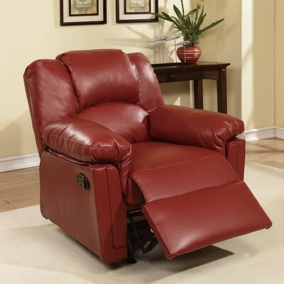 Jacob Manual Glider Recliner Upholstery: Red