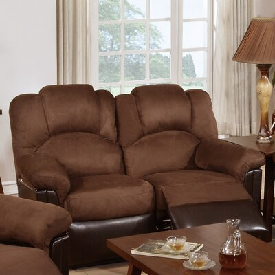 Ethan Reclining Loveseat Upholstery: Chocolate Brown