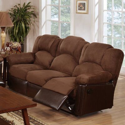 Ethan Reclining Sofa Upholstery: Chocolate Brown