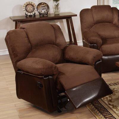 Ethan Leather Manual Rocker Recliner Upholstery: Chocolate Brown