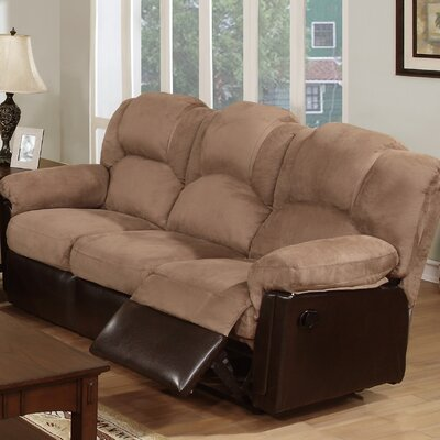 Ethan Reclining Sofa Upholstery: Saddle Tan