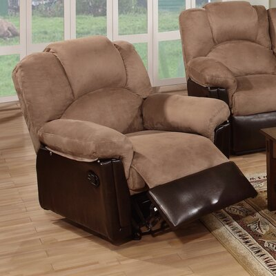 Ethan Leather Manual Rocker Recliner Upholstery: Saddle Tan