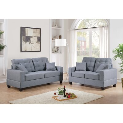 Infini Furnishings INF7858JB Sofa and Loveseat Set