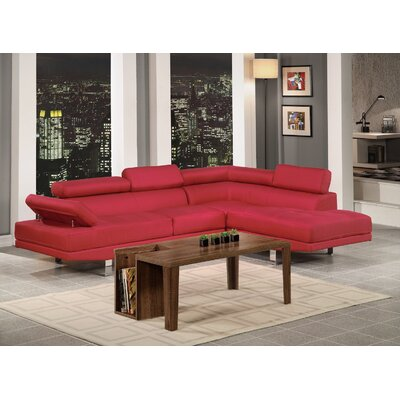 Sectional Upholstery: Carmine Red