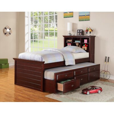 Twin Captain Bed with Trundle and Storage Finish: Cherry