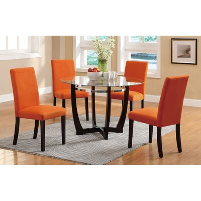 5 Piece Dining Set Upholstery: Canyon Orange