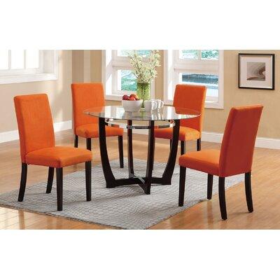 5 Piece Dining Set Upholstery: Canyon Orange