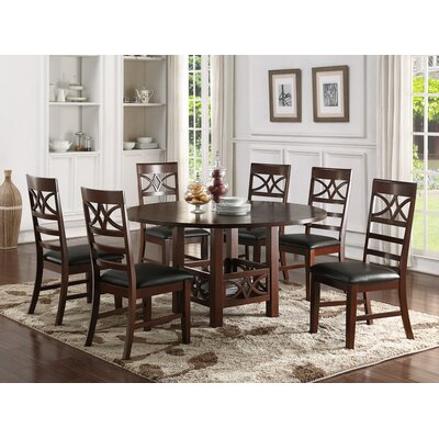 7 Piece Dining Set Finish: Dark Brown