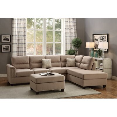Reversible Chaise Sectional Upholstery: Sand Beige