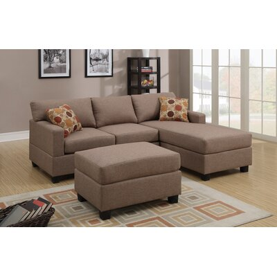 Reversible Chaise Sectional Upholstery: Stone Tan