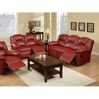 INF66776678JB Infini Furnishings Red Living Room Sets