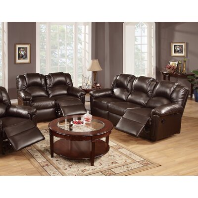Jacob Reclining Sofa and Loveseat Set Upholstery: Espresso