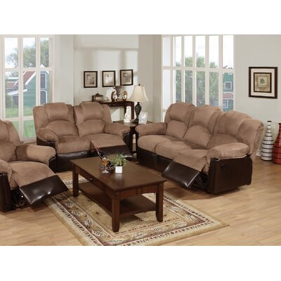 Infini Furnishings INF66846685JB Ethan Reclining Sofa and Loveseat Set Upholstery