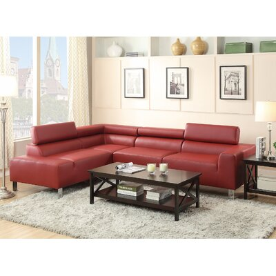 Reclining Sectional Upholstery: Red