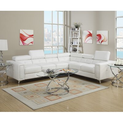 Infini Furnishings INF7250JB Sectional Upholstery