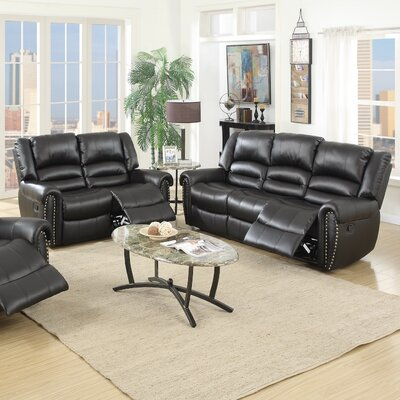 Infini Furnishings INF67496750JB Madison Reclining Sofa and Loveseat Set Upholstery