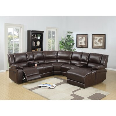 Reclining Sectional Upholstery: Brown