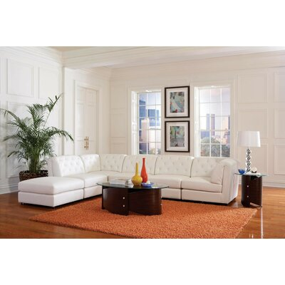 Modular Sectional Upholstery: Pearl White