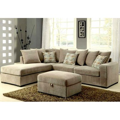 Infini Furnishings INF500044-84JB Reversible Chaise Sectional