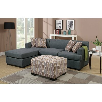 Reversible Chaise Sectional Upholstery: Gray