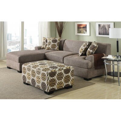 Reversible Chaise Sectional Upholstery: Slate Brown