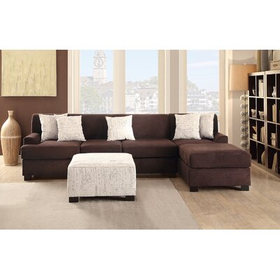 Reversible Sectional Upholstery: Brown