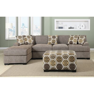 Infini Furnishings INF7448-50JB Reversible Chaise Sectional Upholstery