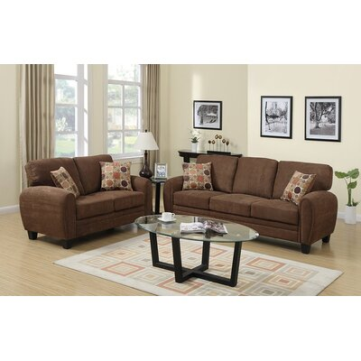 Infini Furnishings INF7539JB Sofa and Loveseat Set Upholstery