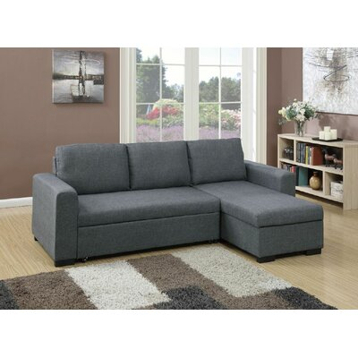Sleeper Sectional Upholstery: Blue Gray