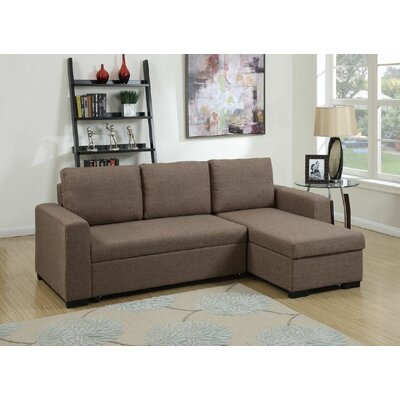 Sleeper Sectional Upholstery: Coffee Brown