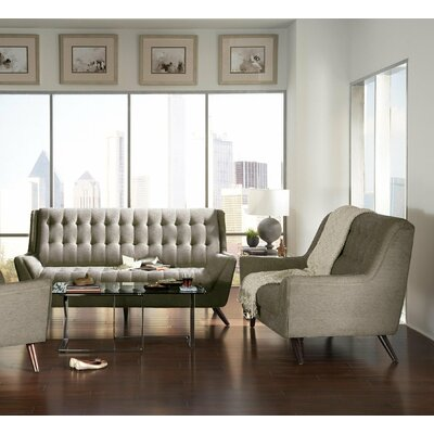 Kaden 2 Piece Living Room Set Upholstery: Dove Gray