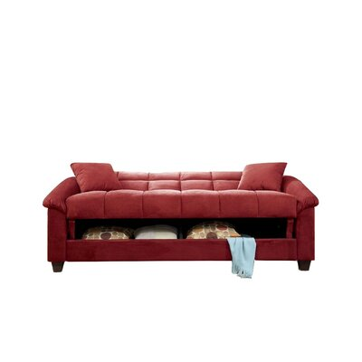 Convertible Sofa Upholstery: Red