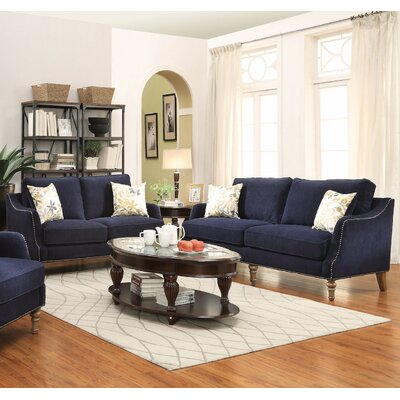 Infini Furnishings INF505791-2JB Sofa and Loveseat Set