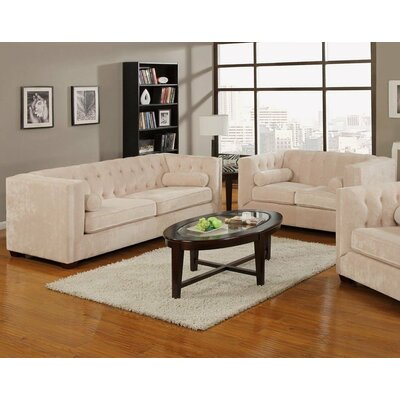 Sofa and Loveseat Set Upholstery: Almond