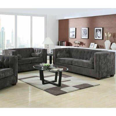 Sofa and Loveseat Set Upholstery: Gray