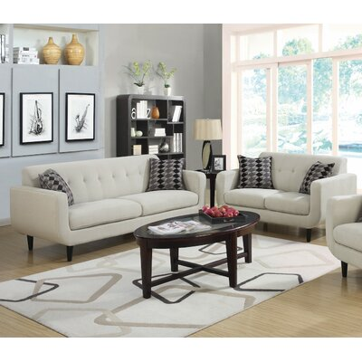 Sofa and Loveseat Set Upholstery: Ivory