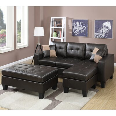 Infini Furnishings INF6927JB Reversible Chaise Sectional