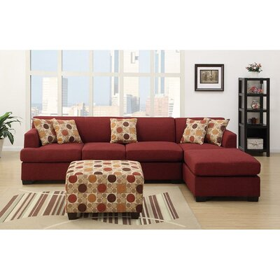 Infini Furnishings INF7961-3JB Reversible Chaise Sectional Upholstery