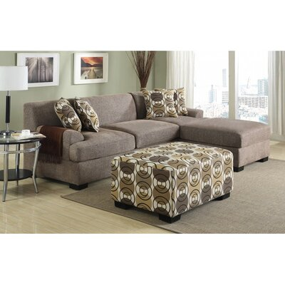 Infini Furnishings INF7448-9JB Reversible Chaise Sectional Upholstery
